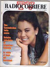 rivista TV RADIO CORRIERE ANNO 1968 NUMERO 39 VALERIA MORICONI