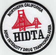 NORTHERN CALIFORNIA HIGH INTENSITY DRUG TRAFFICKING AREA HIDTA POLICE PATCH CA