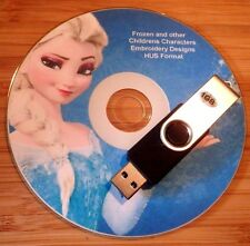 HUS Embroidery Designs Frozen Disney & 4800 Childrens Characters on USB Stick