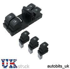 4 Pz Set of Chrome WINDOW SWITCH CONTROL PER 4 porte VW PASSAT GOLF MK5 / JETTA