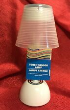 Battery-Operated Touch-Sensor White Desk Table Lamp -7.5 Inch- Brand New