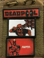 3 Deadpool Morale Patch Lot Milspec Tactical Molle      Save $6!!!!