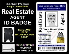 REAL ESTATE AGENT ID Badge / Card   CUSTOM WITH YOUR PHOTO & INFO   Holographic