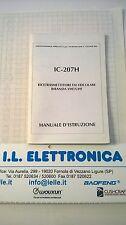 MANUALE IN ITALIANO istruzioni d'uso per ICOM IC-207H