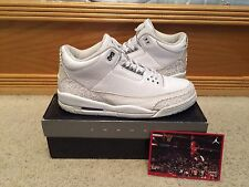 "2007 NIKE AIR JORDAN 3 III RETRO ""PURE MONEY"" 136064-103 Sz 11.5"