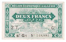 ALGERIE - 2 FRANCS - Pick n° 102 de 1944. en SUP  2T G1 N° 148,884