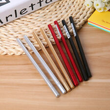 3× 0.5mm Fountain Pen Metal Feel Black Ink Ball Pen Stationery Student Gifts New