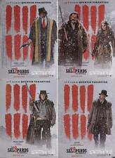 THE HATEFUL EIGHT - TARANTINO - RARE LARGE FRENCH ROLLED CHARACTER POSTERS SET