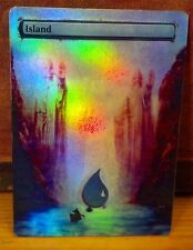 FOIL MTG ISLAND ALTERED ART LORD OF THE RINGS GATES ARGONAT PILLARS OF KINGS EDH