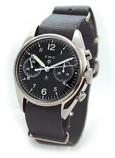CABOT CWC 1970s REISSUE PILOTS CHRONOGRAPH MILITARY WATCH [36045]