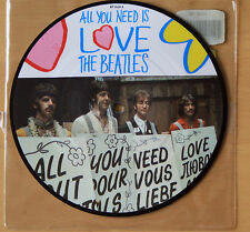 "Mint THE BEATLES ALL YOU NEED IS LOVE 20TH ANNIVERSARY 7"" Vinyl Picture Pic Disc"