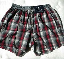 NWT Polo Ralph Lauren Classic Fit Boxer Short Plaid SMALL Size 28-30
