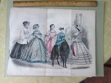 Vintage Print,JUNE,Fashion,Godeys,1862