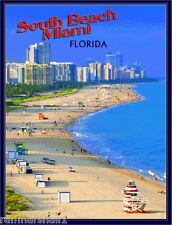 South Miami Beach Florida United States America Travel Advertisement Art Poster