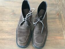 GUCCI MEN'S SHOES BROWN SUEDE LACE UP BOOTS US 8 - EU 40.5 MADE IN ITALY