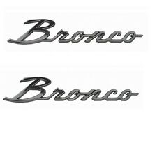 1966 - 1977 Ford Bronco Script w/ Clips (Pair)  ***FREE 2-3 DAY SHIPPING***
