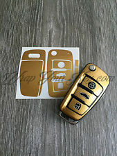 GOLD METALLIC Key Wrap Cover Case Skin Audi Remote A1 A3 A4 A5 A6 A8 TT Q3 Q5 Q7