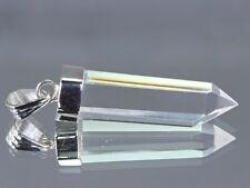 Cristal de roche pendentif pointe 20cts Argent_925 ~10421 Rock Crystal Pendant