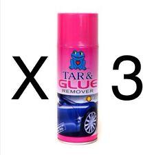 3 x catrame e Colla Adesiva Stuff Adesivo REMOVER Professional può aerosol 450 ml