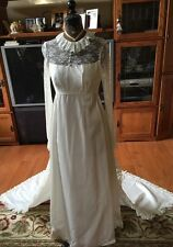 Vintage Wedding Gown 1960's-70's Bust 32.5 Inches
