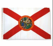 """12x18 12""""x18"""" State of Florida Sleeve Flag Boat Car Garden"""