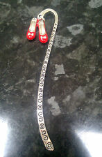 Handmade Wizard of Oz Inspired Ruby Slippers Charm Bookmark Silver