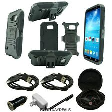 For Samsung Galaxy S6 Active G890 Phone Case Hybrid Holster Cover Black +More