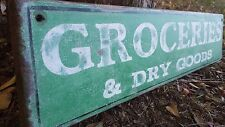 Personalized Rustic Wood Sign  Groceries and Dry Goods or Bar, Store - Hand Made