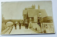 Wonderful Early Real Photo Postcard Studley and Astwood Bank Railway Station