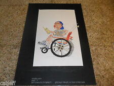 ORIGINAL ART BURGER KING KIDS CLUB WHEELCHAIR SPECIALY ABLED HI-TECH VIDEO WIZ