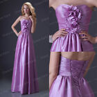 Strapless Sexy Long Bridesmaid Evening Formal Party Masquerade Dress Gown Prom