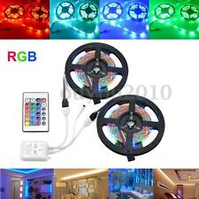 10M SMD 2835 600 LED RGB Strip Flexible Bande Guirlande + 24 Keys Remote DC12V