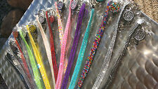Bling Rhinestone Break Easy Lanyard - Retractable Reel Extra Long Aussie Seller