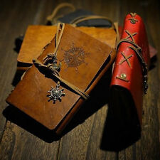 Vintage Leather Cover Notebook Pocketbook Journal Diary Blank String Book