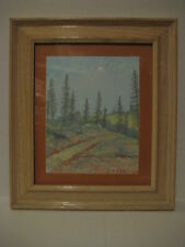 "Oil Painting on Canvas Framed Country Fence Landscape Art J.P. Early 10"" x 12"""