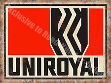 Uniroyal Tyres, Vintage Garage Advert 194, Motorsport Oil, Large Metal/Tin Sign