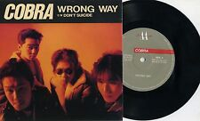 "Cobra - Wrong Way 7"" Japan Punk Oi! Laughin' Nose SA Strong Style Wanderers"