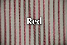 NEW Red Striped Bed Ticking Fabric - Material Sold by the Yard