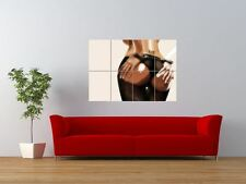 SEXY HANDCUFFED NAKED BABE ASS BUM GIANT ART PRINT PANEL POSTER NOR0160