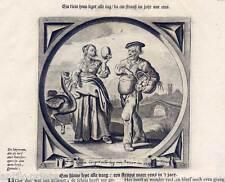 Strauß-Straußenei-Hühnerei-Ei - Emblemata - Kupferstich - Venne-Cats 1650 Fische