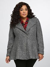 TORRID PLUS SIZE 2X 18 20 2 JACKET COAT PEPLUM TOP SHIRT WINTER FIT FLARE TWEED