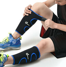 Pair Calf Support Compression Sleeve Leg Stretch Socks Brace Pads Sport Running