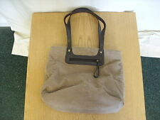 "Ladies Handbag M&S brown corduroy 16x11x5"" handles 21"", inner/outer pockets 3013"