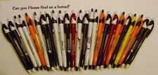 Misprint Pens Regluar GRIP Nice writing! Clip ON Retractable RANDOM LOT of 25