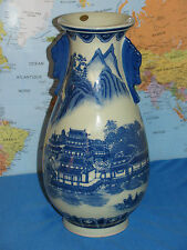 CHINESE PORCELAIN COVERED VASE PAINTED with BLUE & WHITE ***BRAND NEW & RARE***