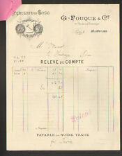 """PARIS (I°) MERCERIE """"AU MANTEAU D'OR / Maison LAMBERT / G. FOUQUE Succ"""" en 1911"""