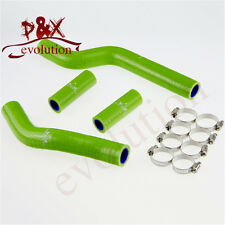 Silicone Radiator silicon Hose + clamps for YAMAHA YZ250 YZ 250 2002-2012 green