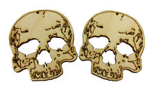 2pc. Laser-cut Skull Sound Hole Covers for Cigar Box Guitars & More  32-167-01