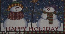 Placemats Tapestry Winter Happy Holiday Christmas Snowmen Snowman Set of 4