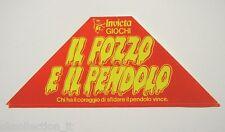 VECCHIO ADESIVO anni '80 / Old Original Sticker GIOCHI INVICTA (cm 19 x 8)